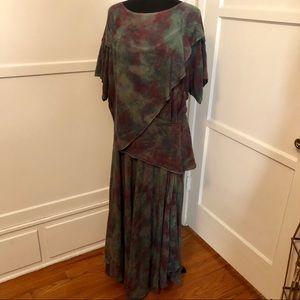 Vintage Dresses - Vintage boho layered avant-garde maxi Dress m/l